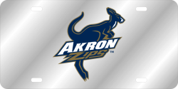 Akron Zips Laser Color Frost License Plate 165999