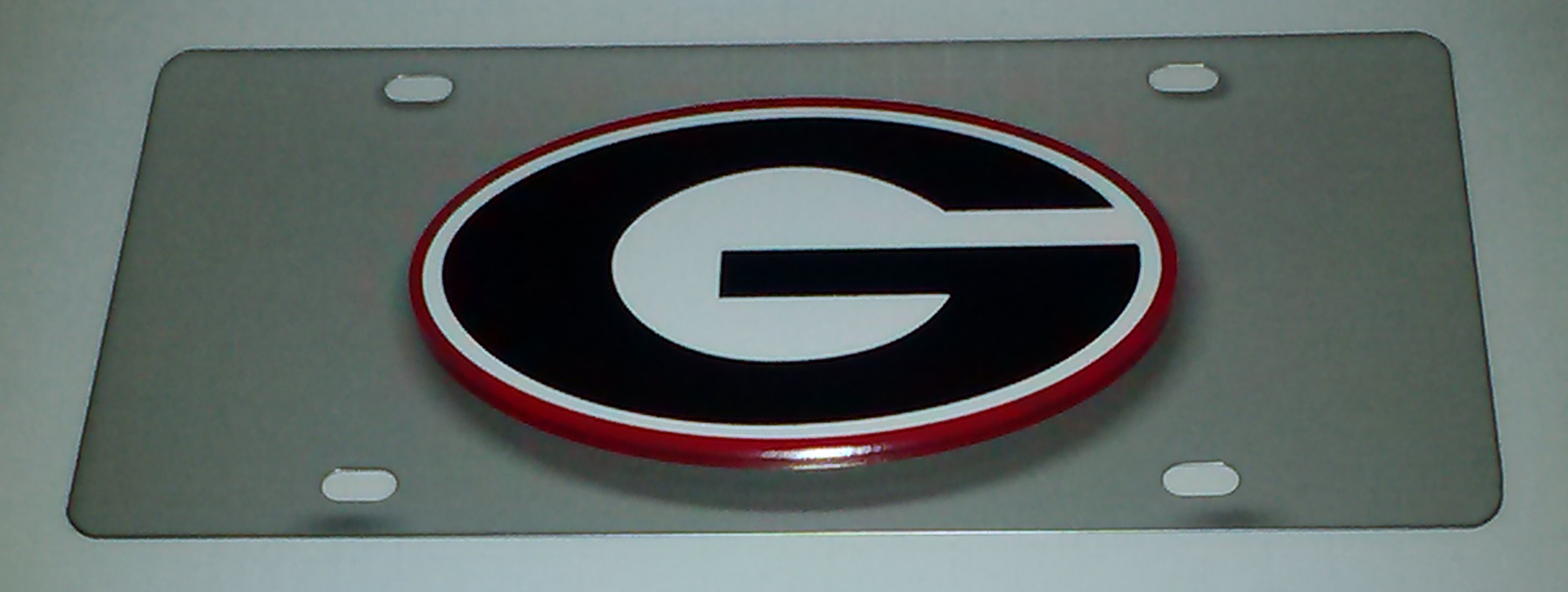Georgia U Stainless Steel License Plate