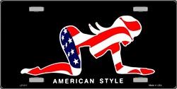 LP-001 American Style Sexy Flag Pose License Plate - 9018
