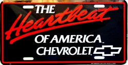 LP-011 Chevy Heartbeat of America License Plate - 295