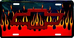 LP-015 Chevy Flame License Plate - 2593