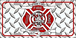 LP-020 Fire-Rescue License Plate Tags