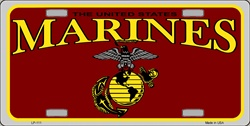 LP-111 US Marines License Plate - 2584