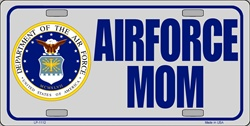 LP-1112 US Airforce Mom License Plate - X306