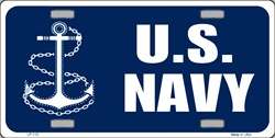 LP-112 US Navy License Plate - 2597