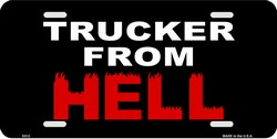 LP-1121 Trucker from HELL License Plate - X313