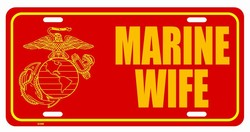 LP-1151 Marine Wife License Plate - X348