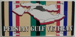 LP-117 Persian Gulf Veteran License Plate - 589