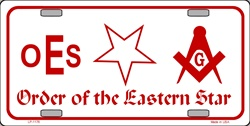 LP-1176 Order of the Eastern Star License Plate - X375