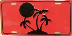 LP-1177 Island Palms License Plate - X365
