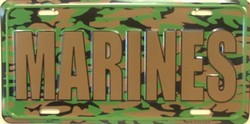 LP-1190 US Marines Camo Camoflage License Plate - X374