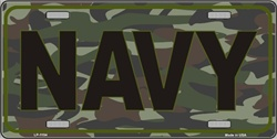 LP-1194 US NAVY Camo Camoflage License Plates - X372