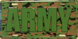 LP-1195 US ARMY Camo Camoflage License Plates - X373
