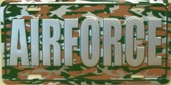 LP-1217 US Air Force Camo Camoflage License Plates - X395