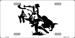 LP-1231 Bull Rider License Plate Tags
