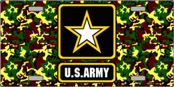 LP-1239 U.S. United States Army Star License Plate - 2716