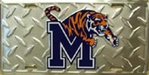 LP-1266 University of Memphis Tigers License Plate Tags - 2714