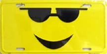 LP-1297 Sunglasses Cool Smiley License Plate - X081