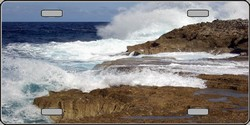 LP-2030 Waves Crashing Full Color Photography License Plates