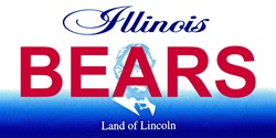LP-2042 Illinois State Background License Plates - Bears