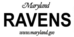 LP-2045 Maryland State Background License Plates - Ravens