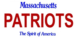 LP-2046 Massachusetts State Background License Plates - Patriots