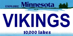 LP-2048 Minnesota State Background License Plates - Vikings