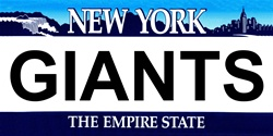 LP-2052 New York State Background License Plates - Giants