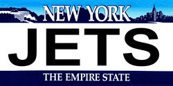 LP-2053 New York State Background License Plates - Jets
