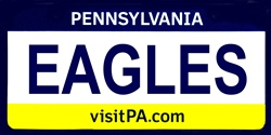 LP-2057 Pennsylvania State Background License Plates - Eagles