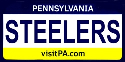 LP-2058 Pennsylvania State Background License Plates - Steelers