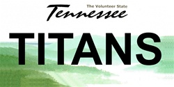 LP-2059 Tennessee State Background License Plates - Titans