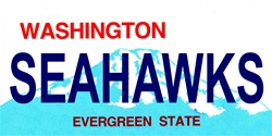 LP-2063 Washington State Background License Plates - Seahawks