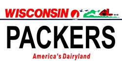LP-2064 Wisconsin State Background License Plates - Packers
