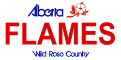 LP-2065 Alberta Canada Province Background License Plates - Flames