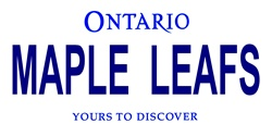 LP-2068 Ontario Canada Province Background License Plates - Maple Leafs