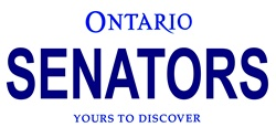 LP-2069 Ontario Canada Province Background License Plates - Senators