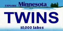 LP-2081 Minnesota State Background License Plates - Twins
