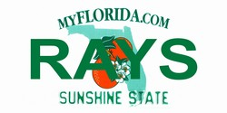 LP-2084 Florida State Background License Plates - Rays
