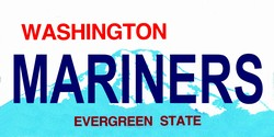 LP-2087 Washington State Background License Plates - Mariners