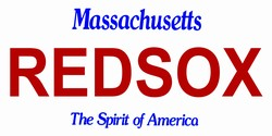 LP-2090 Massachusetts State Background License Plates - Red Sox