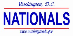 LP-2091 Washington DC State Background License Plates - Nationals