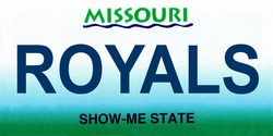 LP-2093 Missouri State Background License Plates - Royals
