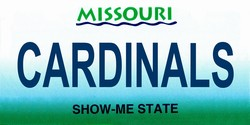 LP-2094 Missouri State Background License Plates - Cardinals