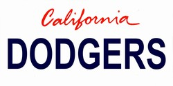 LP-2095 California State Background License Plates - Dodgers