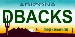 LP-2100 Arizona State Background License Plates - Dbacks