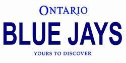 LP-2101 Toronto Canada Province Background License Plates - Blue Jays