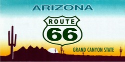 LP-2102 Arizona State Background License Plates - Route 66