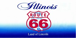 LP-2104 Illinois State Background License Plates - Route 66