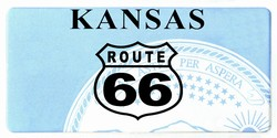 LP-2105 Kansas State Background License Plates - Route 66